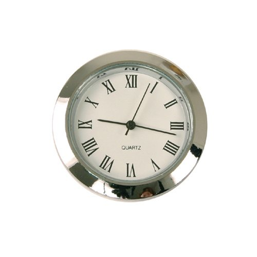 Paylak Mini Clock Quartz Movement Insert Round 1 7/16