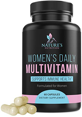 Multivitamin for Women High Potency Daily Vitamins with Biotin 1000mg – Natural Supplement – Made in USA – Best Vitamins A B C D E, Calcium, Zinc, Magnesium, Folic Acid – 60 Capsules