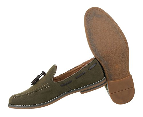 Herren Schuhe Halbschuhe Slipper Grün