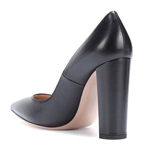 Noir Bout Escarpins Pointu Cm Bloc Chaussures À Hauts 10 Talons Talon Femmes Femme Ubeauty 6pwRqx