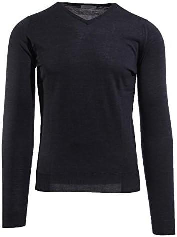 Vネック セーター/SHIPTON シップトン 30ゲージ メンズ [並行輸入品]