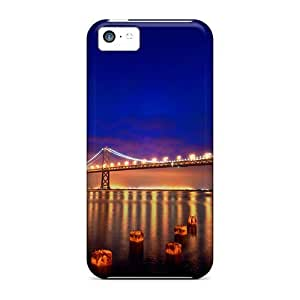 LJF phone case Durable Defender Case For ipod touch 4 Tpu Cover(san Francisco Nights)