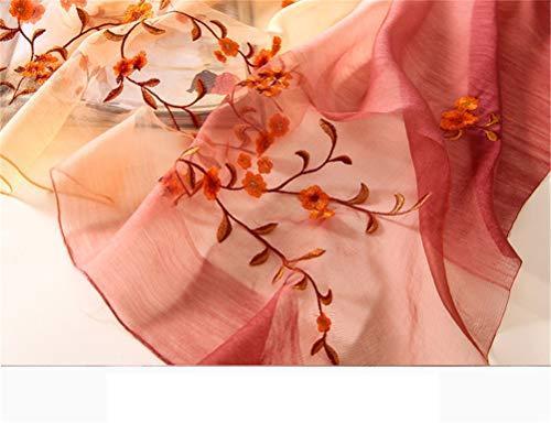 Scarf B Sunscreen Shawl Fashion Color i Scarf hand Wool Embroidered solid Silk Female Scarf Elegant beach Joker Gift SwqFInUTCx