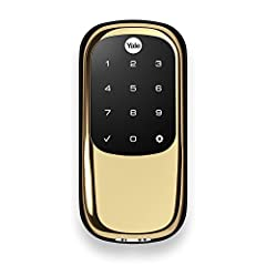 Never worry about carrying around or losing your keys again. Unlock and lock your home with ease from the backlit touchscreen keypad. Create unique pin codes for friends and family and remove codes whenever you need to. The lock is tamper res...