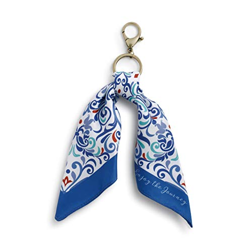 (Blue Filigree Clip It 11 Inch Zinc Alloy & Polyester Scarf Purse)