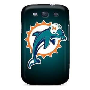 JonBradica Samsung Galaxy S3 Shockproof Hard Phone Case Custom Fashion Miami Dolphins Skin [kaC11832clsv]