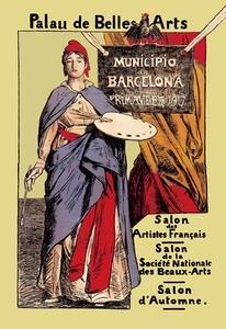 Paper poster printed on 20 x 30 stock. Palau de Belles Artes: Salon des PAINTERes - Painteres