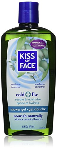 Kiss My Face Cold & Flu Moisturizing Shower Gel, Bath and Body Wash, 16 oz (Pack of 3) Cold Moisturizing Shower Gel