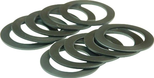 (Wheels Manufacturing BB 24mm Spindle Shim Spacers (10-Pack), 1.0mm)
