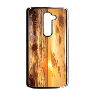 The Sunrise And Beach Hight Quality Plastic Case for LG G2