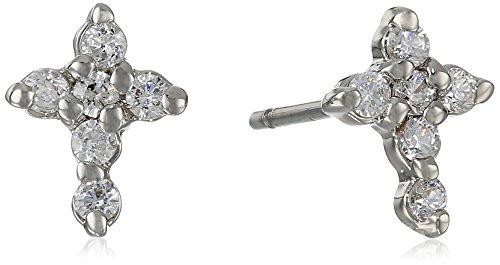 "UPC 885043884707, Betsey Johnson ""CZ"" Cross Cubic Zirconia Stud Earrings"