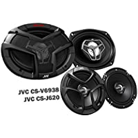 Package In Bulk Box - JVC CS-V9638 6x9 400W 3 Way Coaxial + CS-J620 6.5 300W Car Audio 2-WAY Coaxial - Car Speakers System / 4 Speakers