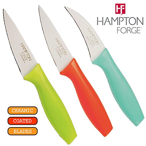 Hampton Forge Tomodachi 3-Piece Ceramic Coated Paring Cutlery Set, HMC01A861C