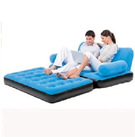 Marvelous Bestway Inflatable Multi Functional Airbed Chair Sofa Couch Tv Camping Mattress Double Blue Ibusinesslaw Wood Chair Design Ideas Ibusinesslaworg