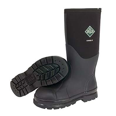 The Original MuckBoots Adult Chore Hi Boot Steel Toe,Black,Men's 5 M/Women's 6 M