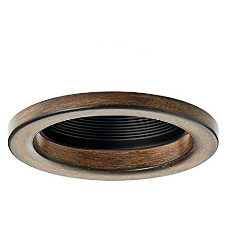 4 recessed light trim pin square kichler barrington distressed black and wood baffle recessed light trim fits housing diameter