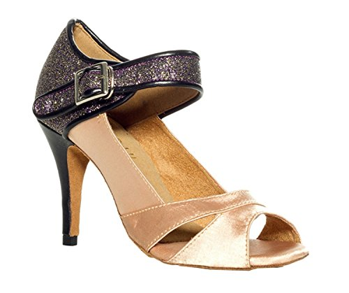 Sandales en piste Beige beige pour Dance Minitoo Femme Taogo nbsp;seul de mariage Bracelet latine Th011 satin danse 8xZ6wqIZ