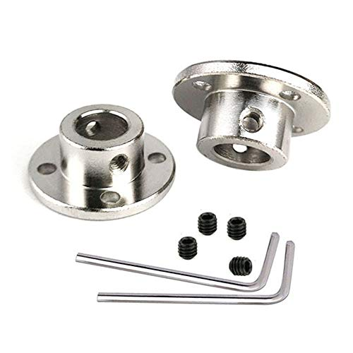 (2 Pieces 12mm Flange Coupling High Hardness Rigid Flanged Joint Shaft Coupler Motor Connector with Fastening Screws)