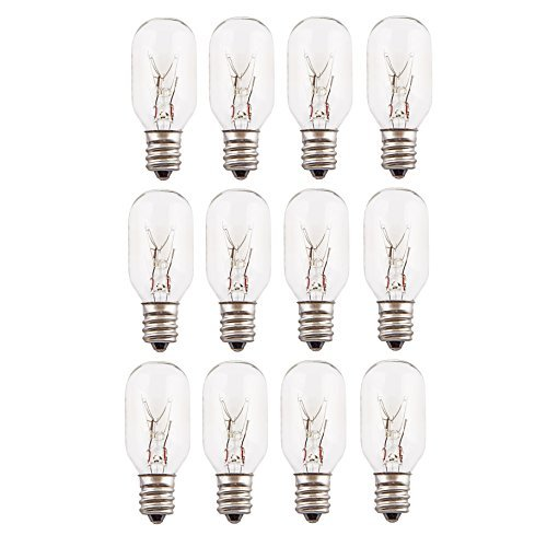 15 Watt Salt Lamp Bulbs E12 Candelabra Base - 12 Pack