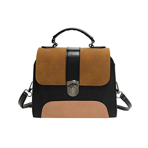 Patch Flap Purse - Hot Sale! Women Bag, Neartime 2018 Girl Fashion Patchwork Leather Buckle Bag Versatile Crossbody Flap Shoulder Bag (❤️21cm(L)×6cm(W)×9cm(H), Brown)