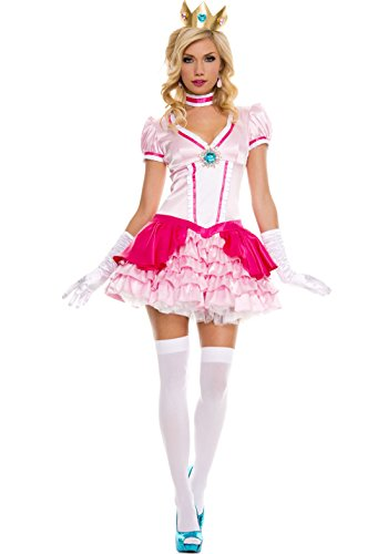 [MUSIC LEGS Women's Peachy Princess, Pink, Medium/Large] (Pink Sexy Costumes)
