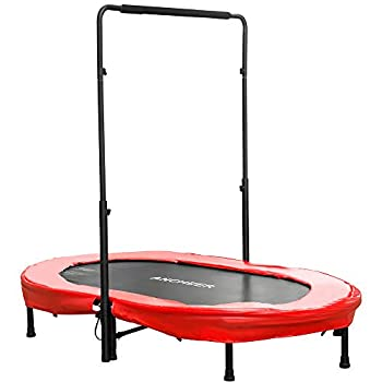 Image of ANCHEER Mini Rebounder Trampoline with Adjustable Handle for Two Kids, Parent-Child Trampoline Trampolines