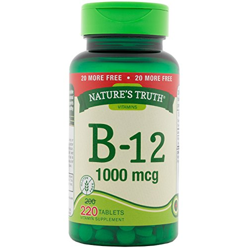 UPC 840093106025, Nature's Truth Vitamin B-12 Tablets, 1,000 mcg, 220 Count