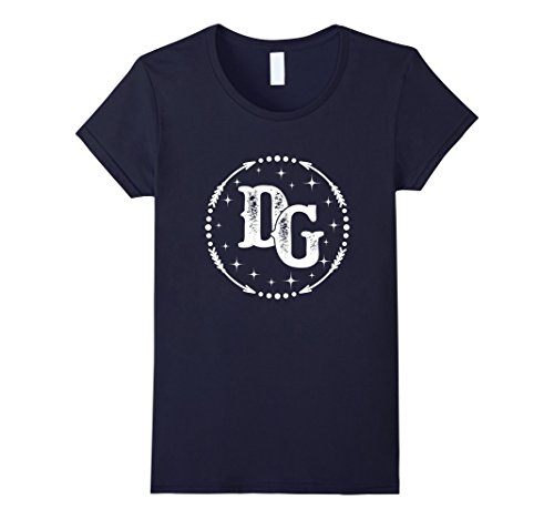 Womens D&G D and G Monogram Name Matching T-shirt Medium Navy