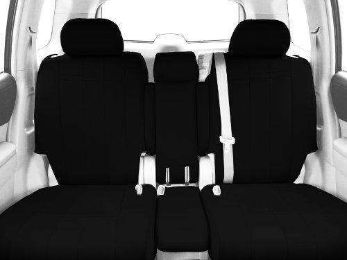 CalTrend Front Row 40/20/40 Split Bench Custom Fit Seat Cover for Select Chevrolet Silverado/GMC Sierra Models - Neoprene (Black Insert and Trim)