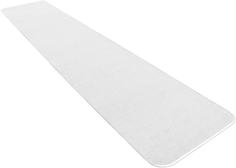 House, Home and More White Carpet Aisle Runner - 3 Feet x 25 Feet