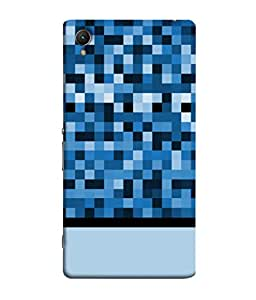 ColorKing Sony Xperia Z1 Case Shell Cover - Pixels Multi Color