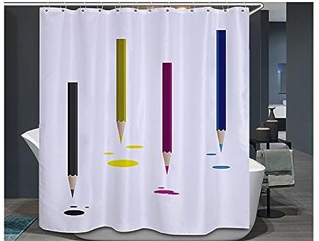 Tende Da Doccia Design : Tende da doccia impermeabile e antimuffa matita pattern bagno