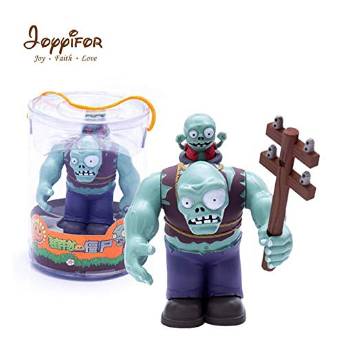 Joyyifor Large Zombie Action Figures Plants Vs. Zombies PVZ Big Zomby with Small Zomby Toys Gifts Kids Toys Must Have Baby Items 5 Year Old Girl Gifts The Favourite DVD