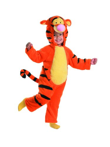Tigger Deluxe Two-Sided Plush Jumpsuit Costume (12-18 (Tigger Costume Toddler)