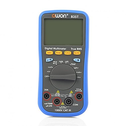 Multimeter Oscilloscope - OWON Digital Multimeter with Temperature Meter, Bluetooth Interface Owon B35T (with TrueRMS)
