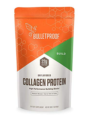 Bulletproof Collagen Protein Powder - Unflavored Hydrolyzed, Grass Fed, Pasture Raised, Ketogenic Diet, Amino Acid Building Blocks for High Performance (16 ounces)