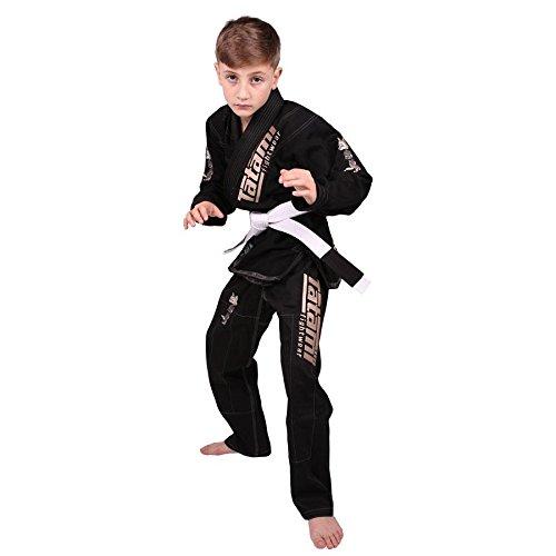 畳Fightwear Meerkatsu Kids Animal BJJ Gi – ブラック B01A9IY79C  M000