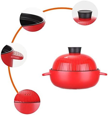 Casserole en céramique Casserole en Céramique,Poêle à gaz en céramique Tagee Pot Spodumene Kaolin Stewpot adapté 28,8 cm