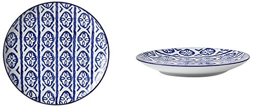 Fill 21301Set de 4assiettes en porcelaine, Collection Indigo, fL.002Indigo