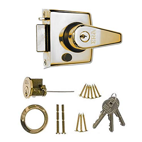 ERA 183-31 40mm High Security Nightlatch with Brass Effect Body