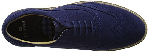 Suede Navy Six Uomo Cow Blue Scarpe Sherman Oxford Stringate Ben qgZwCW