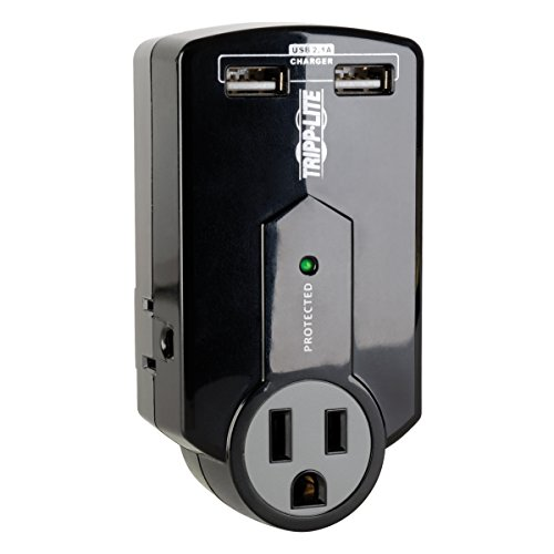 - Tripp Lite 3 Outlet Portable Surge Protector Power Strip, Direct Plug in, 2 USB, $5,000 Insurance (SK120USB)