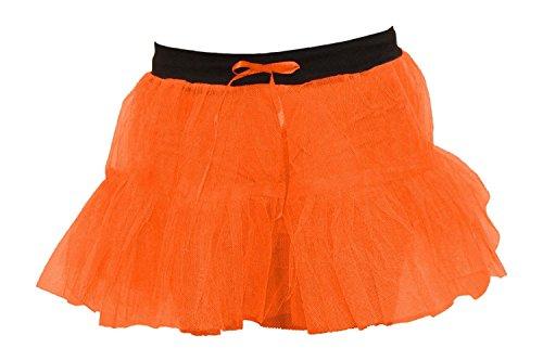 Fantaisie Dames Jupes Danse Ballet Janisramone Tutu Femmes Net 2 Mini Couches Halloween Over Orange Nouveau Plaine Robe gHw4UqP