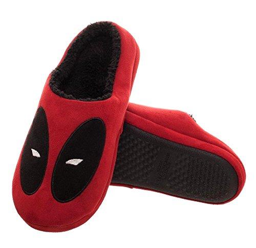 Sleepwear Slippers (Bioworld Marvel Deadpool Red Scuff Slippers | L)