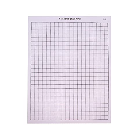 amazon com eta hand2mind 4692 graph paper 1 cm grid pack of 100