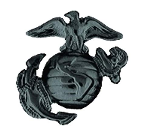 - HMC Marine Corps Eagle Globe & Anchor (EGA) Lapel Pin - (1 inch) Black - 14128BK