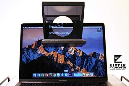Little Prompter, The Compact Personal Teleprompter for DSLRs, Webcams, and Built-in Laptop Cameras, 70/30 Beamsplitter Glass, Use with iOS or Android (Best Blogs To Read For College Students)