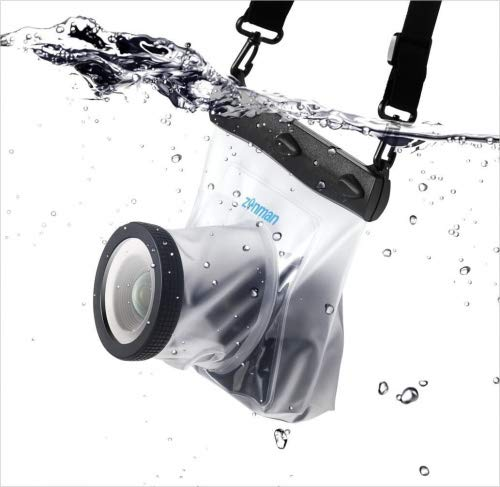 Zonman DSLR Camera Univeral Waterproof Underwater Housing Case Pouch Bag for Canon Nikon Sony Pentax Brand Digital SLR...