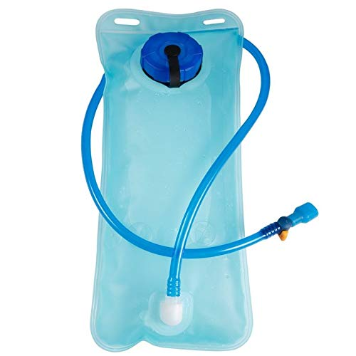 ouying1418 2L Bicycle Bike Cycling Mouth Water Bladder Bag Hydration Camping Sports Blue