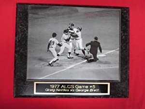 1977 ALCS Graig Nettles vs George Brett Fight Engraved Collector Plaque w/8x10 Photo